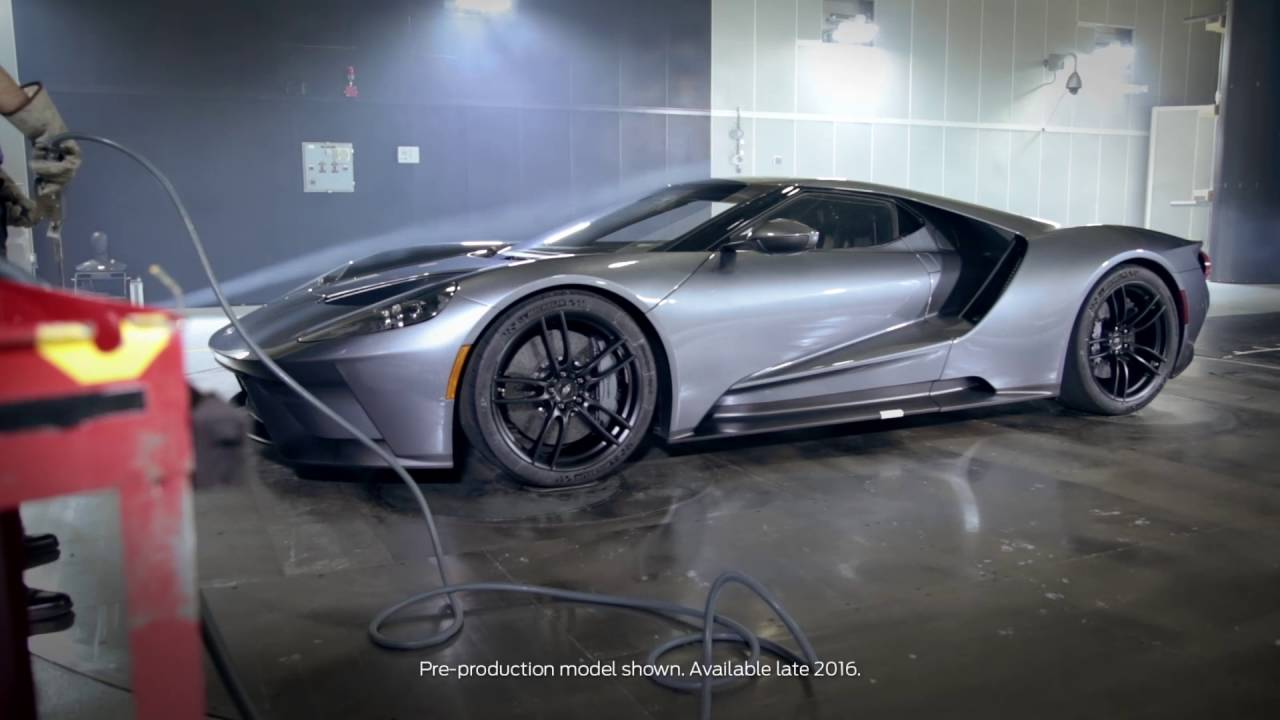 2017 Ford GT undergoing wind tunnel testing