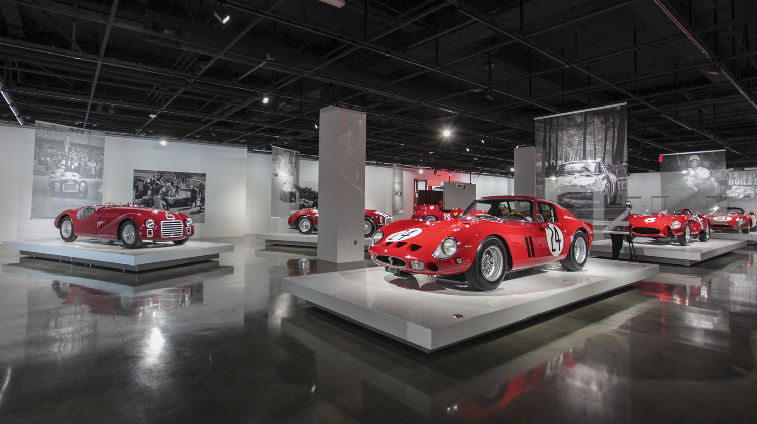 Seeing Red exhibit at the Petersen Automotive Museum
