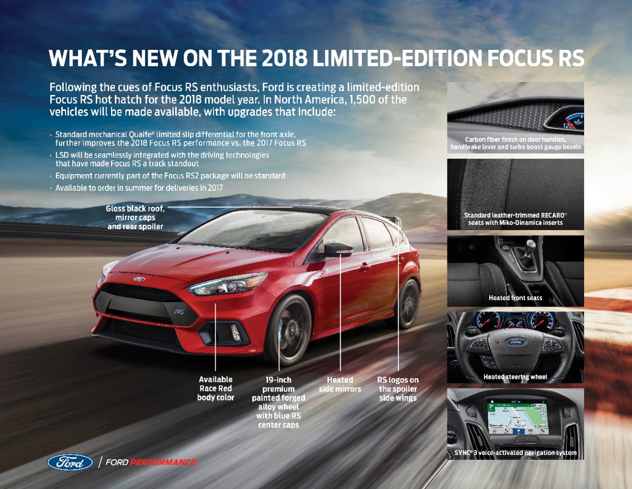 Ford is sending off the 2018 ford focus rs with a limited edition model