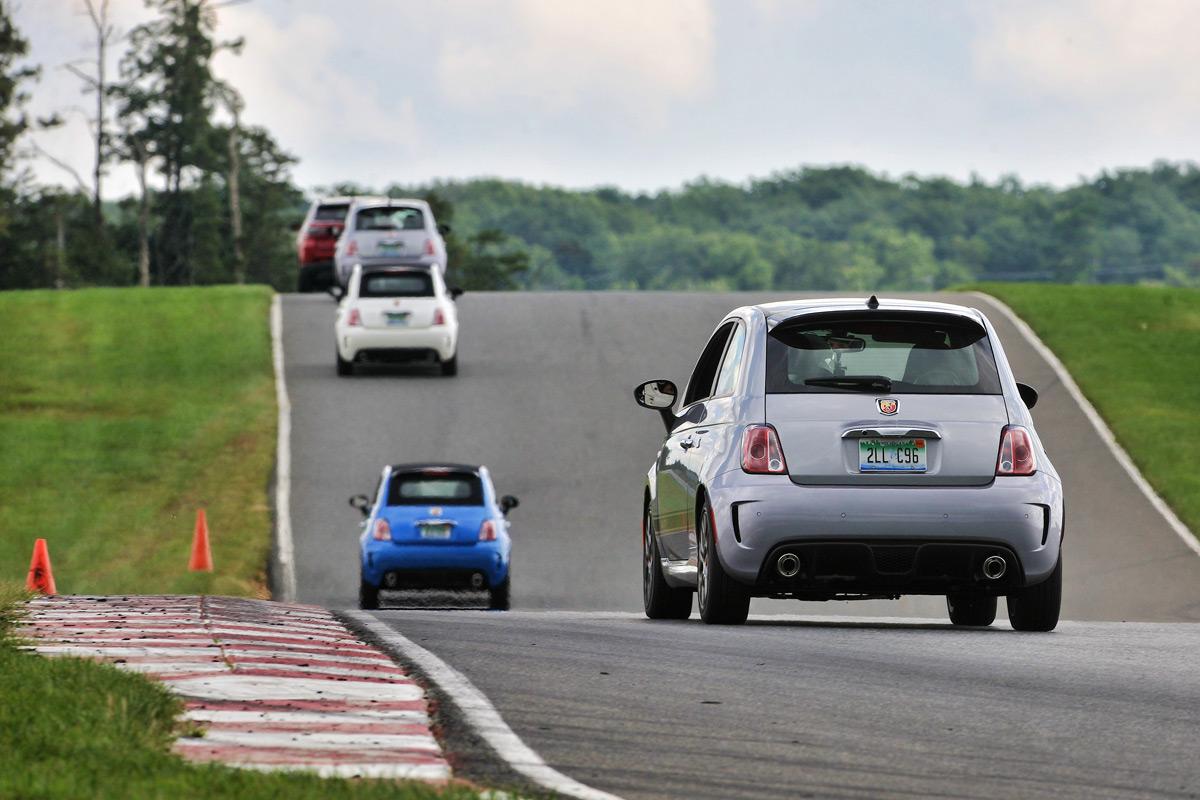 Fiat 500 Abarths on Track