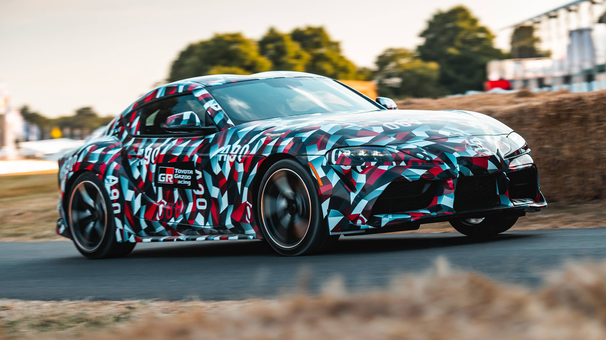 2020 Toyota Supra running at Goodwood Festival
