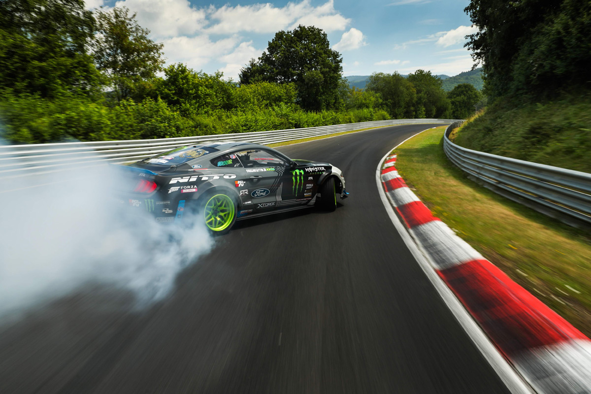 Watch Vaughn Gittin Jr. Drift His Mustang RTR Around The Nurburgring