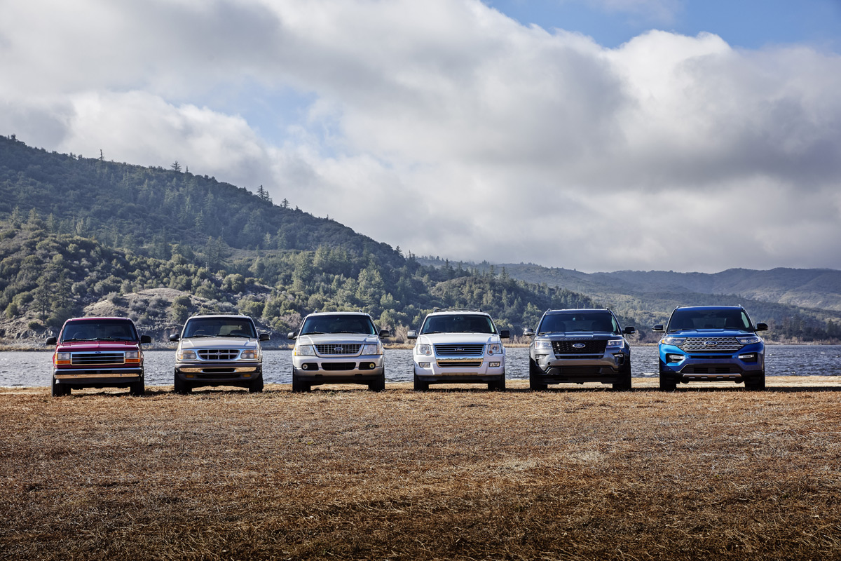 Six Generations of Ford Explorers