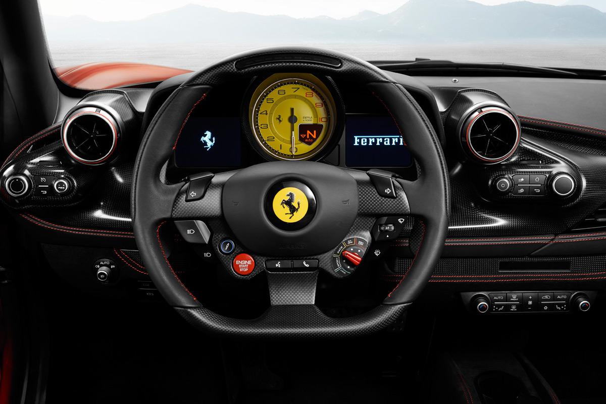 Ferrari F8 Tributo gauge cluster