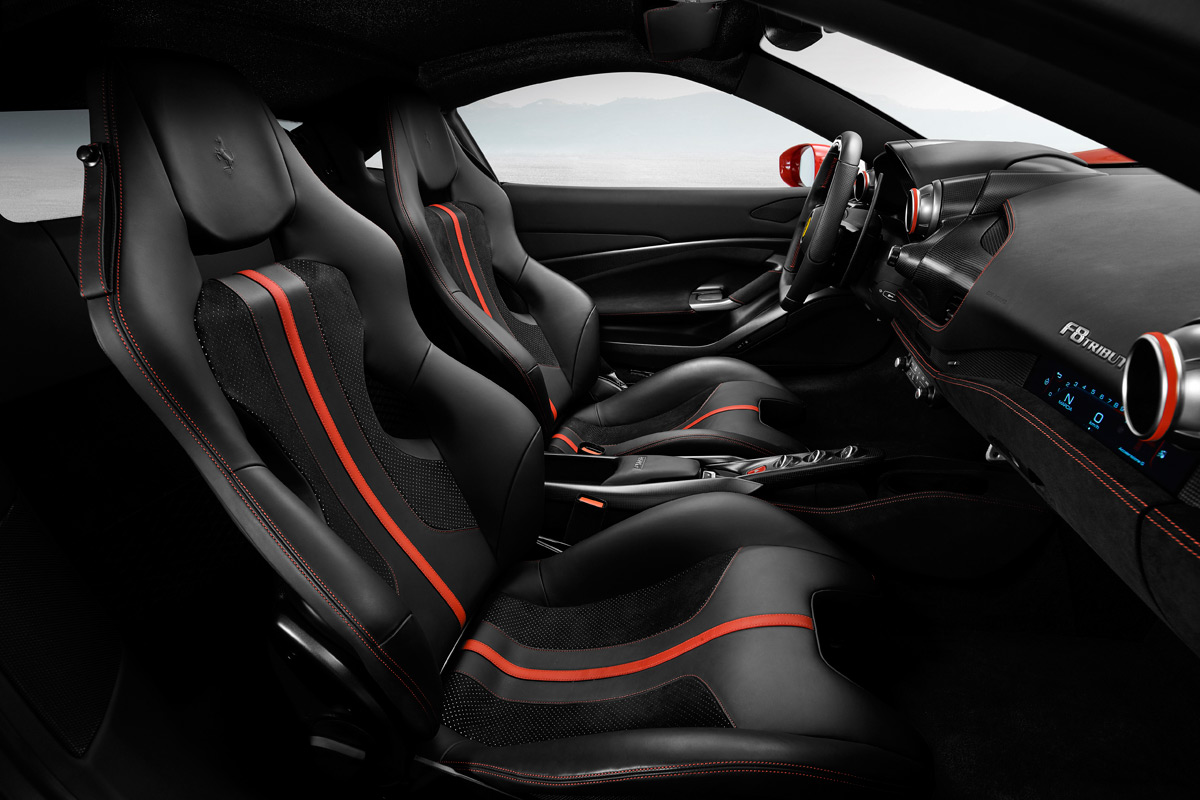 Ferrari F8 Tributo interior seats