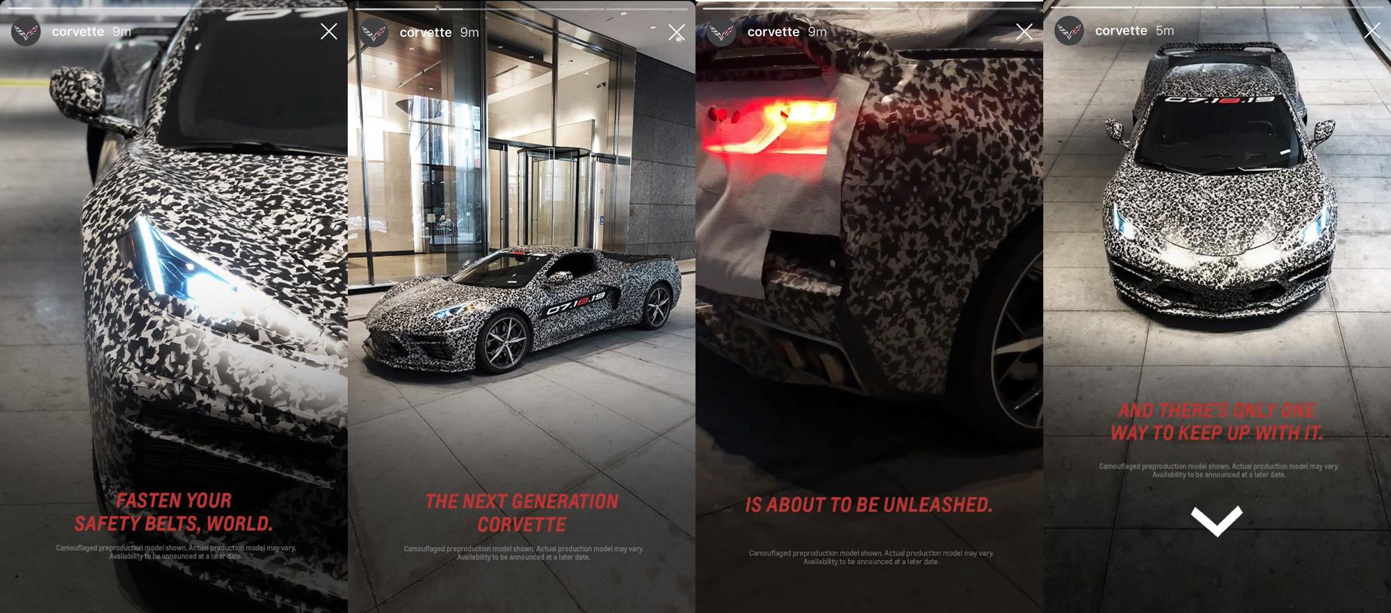 2020 Chevrolet Corvette C8 Instagram Teaser