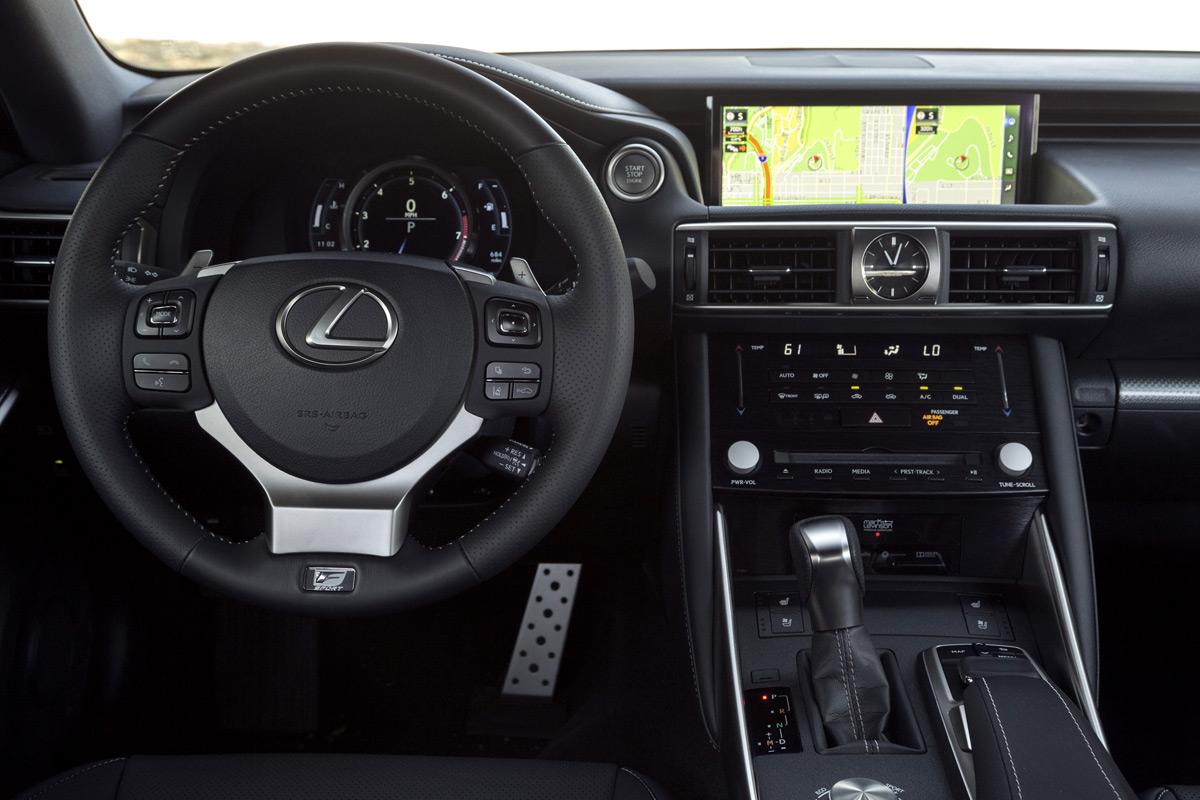 2019 Lexus IS 350 F SPORT interior