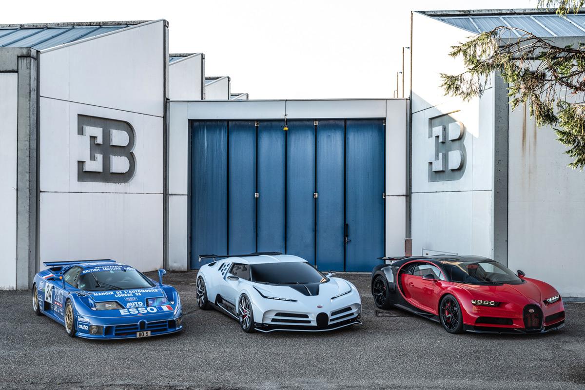 Bugatti trio