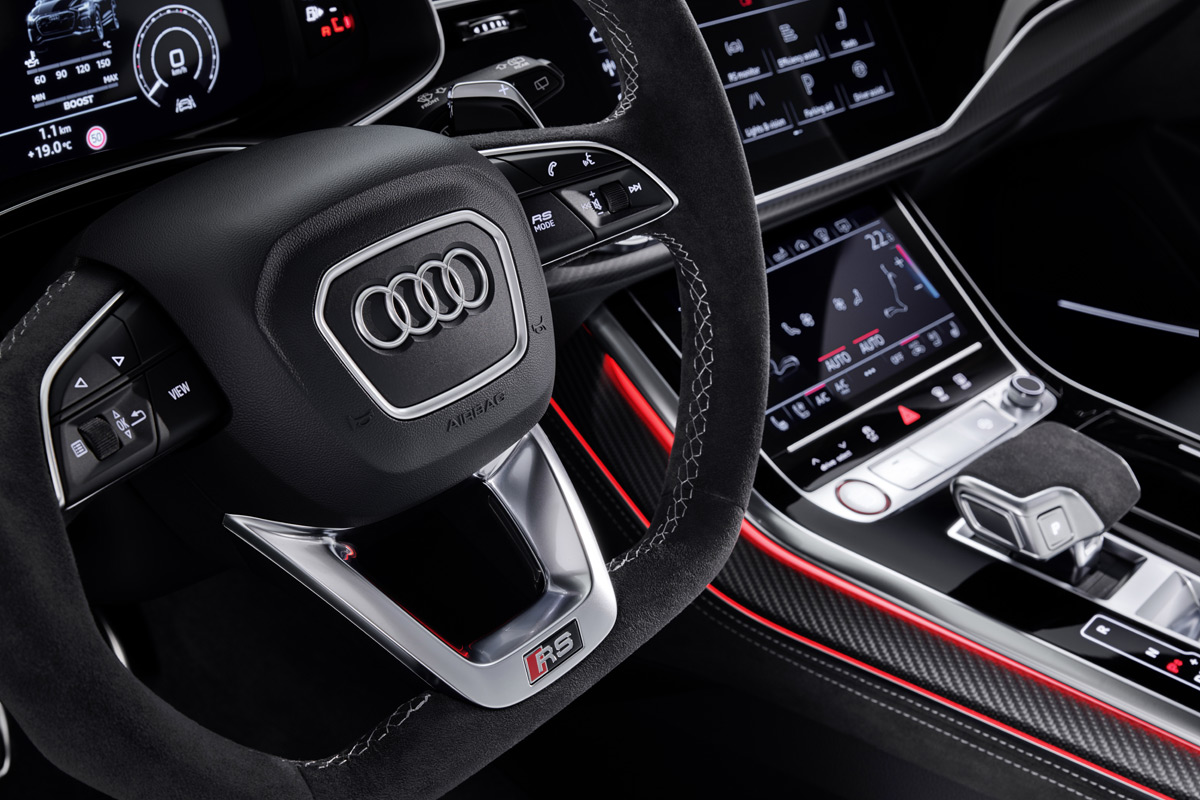 2020 Audi RS Q8 SUV interior