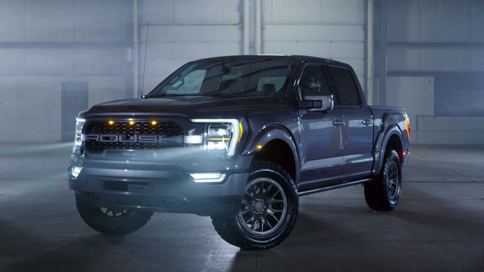 2021 Roush Ford F-150 three-quarters front