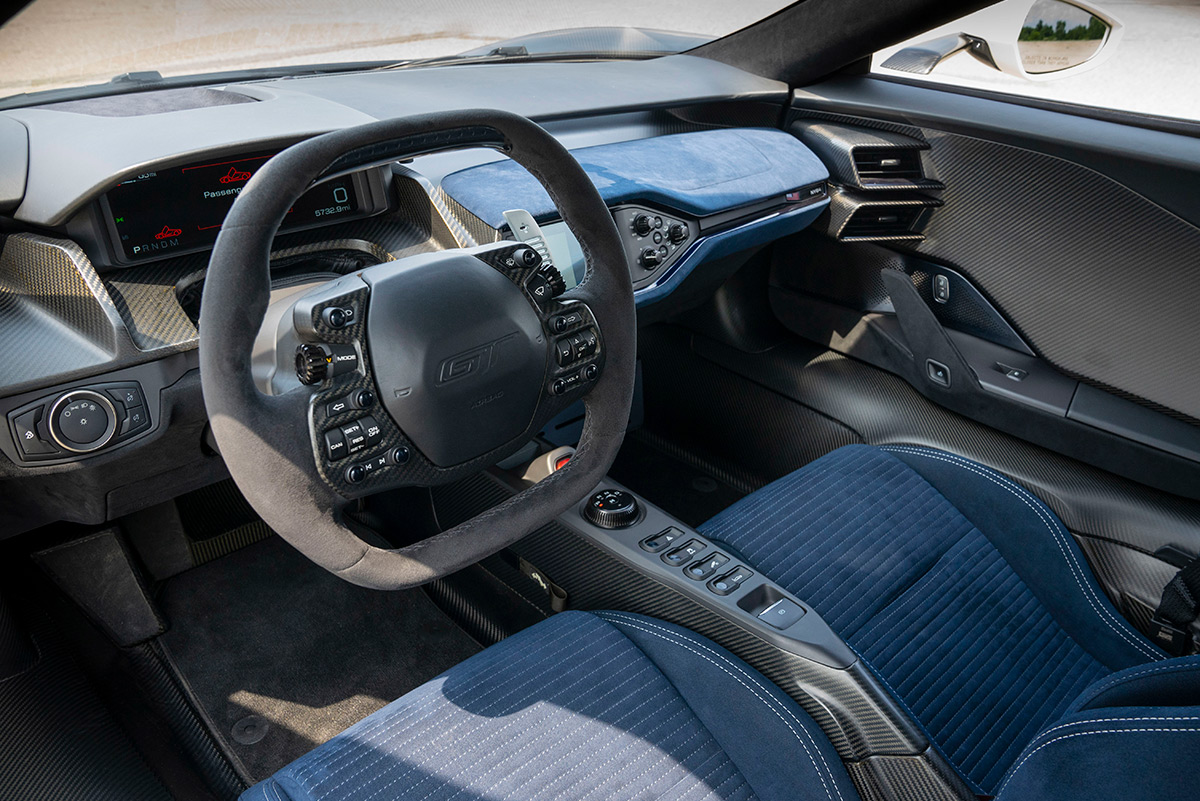 2022 Ford GT '64 Prototype Heritage Edition interior