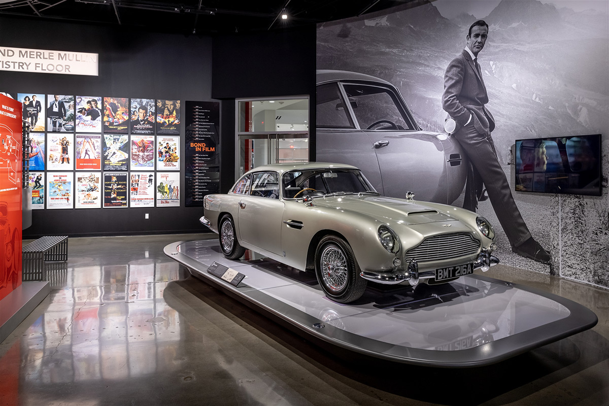 Bond In Motion exhibit at the Petersen